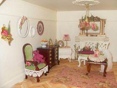 Lindas Miniature Musings: Starting the lounge decor
