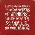 No more reading....