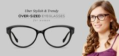Splurge on the stylish over-sized eyeglasses with shiny gloss for that perfectly stylish look.  Buy John Jacobs black over-sized eyeglasses- www.lenskart.com