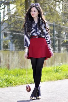 Stripe Shirt With Pocket | Choies