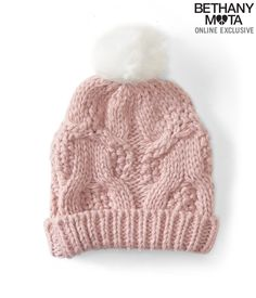 Cable-Knit Pom Hat from Aeropostale