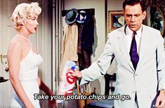 Marilyn Monroe & Tom Ewell in The Seven Year Itch (1955)