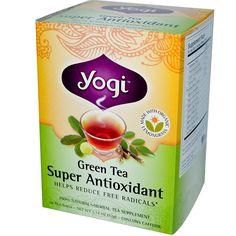 Yogi Tea, Green Tea Super Antioxidant, 16 Tea Bags, 1.12 (32 g) - iHerb.com. Bruk gjerne rabattkoden min (CEC956) hvis du vil handle på iHerb for første gang. Da får du $5 i rabatt på din første ordre (eller $10 om du handler for over $40), og jeg blir kjempeglad, siden jeg får poeng som jeg kan handle for på iHerb. :-)