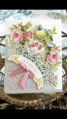 Shabby Chic Cards, Anna Griffin Cards, Beautiful Handmade Cards, Mothers Day Cards, Card Sketches, Paper Cards, Creative Cards, Greeting Cards Handmade, Scrapbook Cards
