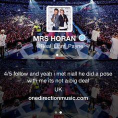 Mrs. Horan bragging in her bio