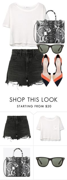 """""""Untitled #2667"""" by elenaday on Polyvore featuring Alexander Wang, MANGO, Yves Saint Laurent, Ray-Ban and Zara"""