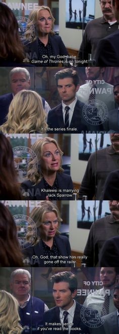 Parks and rec - game of thrones