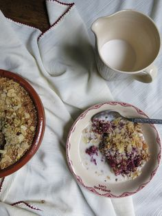 Dark Berry Quinoa Crumble