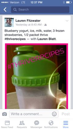 thrive lifestyle mix recipes #laurensthrivers #laurensthriverecipes #thrive http://laurenblatt.le-vel.com