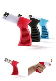 Pistolight - handle for disposable lighters!