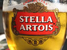 Stella Artrois, a Belgian beer being enjoyed near Venice, Italy.