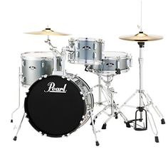 Pearl RS584CC706 Roadshow 4Piece Drum Set Charcoal Metallic * Check out the image by visiting the link.Note:It is affiliate link to Amazon.