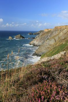 Rocky cliffs of Cornwall, England