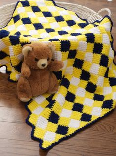Entrelac #Crochet Blanket from Tunisian Crochet for Baby