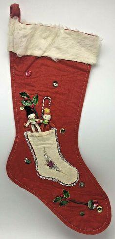 Vintage Christmas Stockings, Holly Christmas, Merry Christmas Everyone, Handmade Christmas, Christmas Ornaments, Baby Sled, Pipe Cleaners, Toy Soldiers, White Glitter