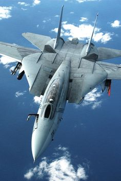 A U.S. Navy Grumman F-14 Tomcat, a carrier based interceptor aircraft.