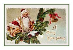 Counted Cross Stitch Chart Victorian Father Christmas Santa with Holly A Merry Christmas Orenco Originals http://www.amazon.com/dp/B00658OT9O/ref=cm_sw_r_pi_dp_Hfvuub16NT86G