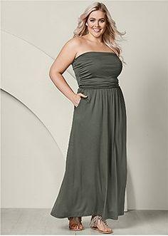 e10eb163f9341 plus size pocket detail maxi dress Formal Dress Shops