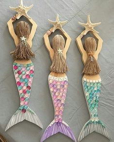 Mermaid Carved from Wood Custom Order Hand Decorated and Ocean Crafts, Seashell Crafts, Beach Crafts, Summer Crafts, Mermaid Wall Art, Mermaid Room, Mermaid Beach, Mermaid Mermaid, Rock Crafts