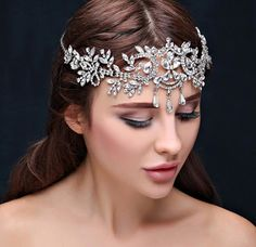 Hair Jewelry, Wedding Jewelry, Jewelry Box, Silver Jewelry, Online Bridal Store, Crystal Headband, Crown Headband, Headband Hair, Tiara Hairstyles