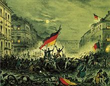 The Revolutions of 1848 in the German states, also called the March Revolution (Märzrevolution), were part of the Revolutions of 1848 that broke out in many countries of Europe and a series of loosely coordinated protests and rebellions in the states of the German Confederation, including the Austrian Empire.