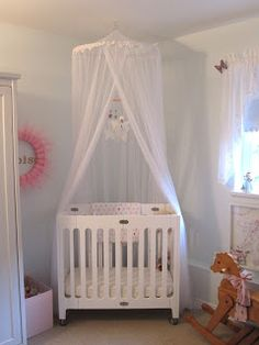 The crib canopy incredible lace over existing mosquito for White canopy crib