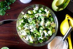 Obsessively Good Avocado Cucumber Salad