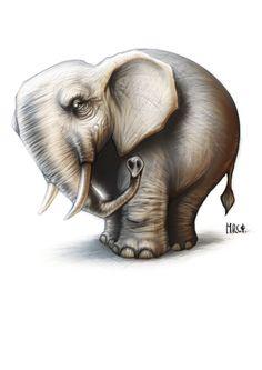 Elephant by MRCS on DeviantArt