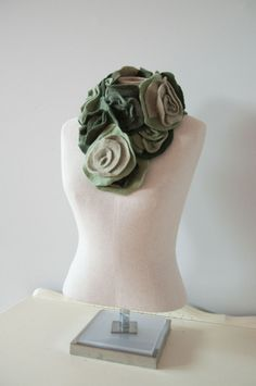 Dark green, light green, and light brown and dark brown roses, my favorite!