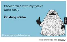 Chcesz mieć szczupły tyłek? Scary Funny, Keep Smiling, Little My, Motto, Haha, Geek Stuff, Jokes, Humor, Wombat