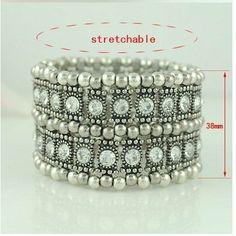 2rows crystal stretchable bracelets vintagle bracelets