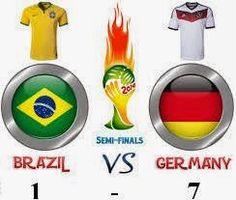 Hasil pertandingan Brazil vs Jerman