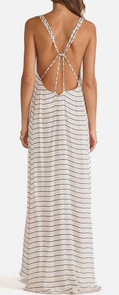 I love it! Stripped maxi dress