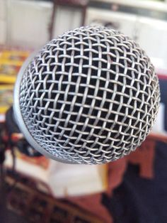 a zoom view of mic....