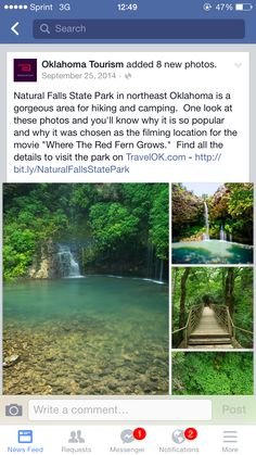 Austin's grandmother is from ! Where the red fern grows ! Vacation Places, Dream Vacations, Places To Travel, Vacation Spots, Vacation Ideas, Oh The Places You'll Go, Cool Places To Visit, Oklahoma Tourism, All Nature