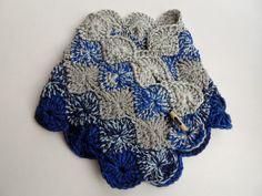 Blue and Grey Neck Warmer Neck Warmer, Grey, Handmade, Blue, Gray, Hand Made, Handarbeit