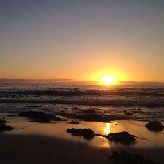 A sunrise can even make seaweed look nice
