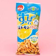 Salty Lemon Kakipi Rice Crackers & Peanuts Japanese Treats, Japanese Candy, Japanese Food, Savory Snacks, Snack Recipes, Japanese Grocery, Peanut Candy, Chocolate Sticks, Purple Sweet Potatoes