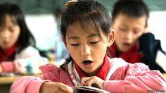 Alumnos en una escuela en China