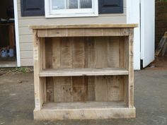 pallet bookcase or night stand Visit & Like our Facebook page! https://www.facebook.com/pages/Rustic-Farmhouse-Decor/636679889706127