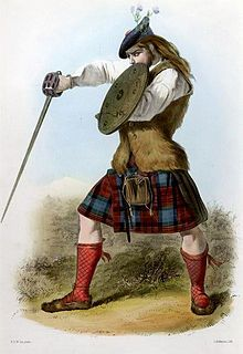 A Victorian-era romanticised depiction of a member of the clan by R. McIan, from The Clans of the Scottish Highlands, published in Clan Maclachlan . Scottish Clans, Scottish Tartans, Scottish Highlands, Clan Castle, Highlands Warrior, Renaissance, Scottish Culture, Scottish Dress, Painting Prints