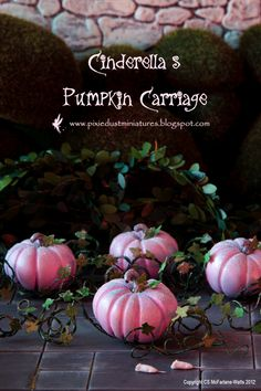 Cinderella's Pumpkin Carriage  FAIRYTALE by PixieDustMiniatures, $59.00