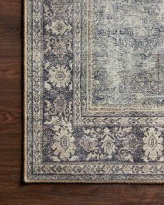 Product Image of Grey, Charcoal Vintage / Overdyed Area Rug Large Rugs, Small Rugs, Grace To You, Old Soul, Polyester Rugs, Oriental Pattern, Power Loom, Colorful Rugs, Charcoal