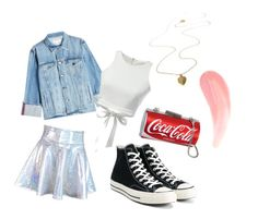 """""""Old School 80s Tumblr Girl"""" by prettyliarxs on Polyvore featuring Frame and Converse"""