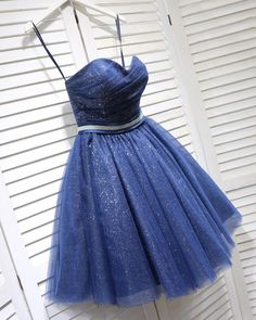 Strapless Corset Sweetheart Neckline Blue Cocktail Party Dress with Belt,Short Prom Dress SP0713 Best Formal Dresses, Dresses Short, Cheap Dresses, Navy Blue Party Dress, Classy Evening Gowns, Evening Dresses, Strapless Homecoming Dresses, Strapless Corset, Bridesmaid Gowns