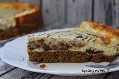 Tapitas y Postres: Tarta de queso veteada.