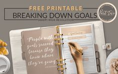 The Goal Setting Form - Planner Page - PrettyWebz Media Business Templates & Graphics Goal Setting Template, Becoming A Life Coach, Goal Planning, Planner Pages, Business Templates, Free Printables, How To Become, Things To Come, Goals
