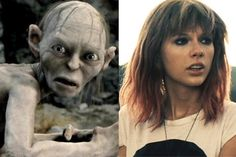Gollum Covers Taylor Swift And Its Pretty Spectacular.watch if you are a fan of the Lord of the Rings series! :) Also, is it just me, or does TS look like Billie Piper in Doctor Who? Make Em Laugh, I Love To Laugh, Laugh Out Loud, Make Me Smile, Taylor Swift Songs, Laughing So Hard, Laughing Squid, Lotr, The Hobbit