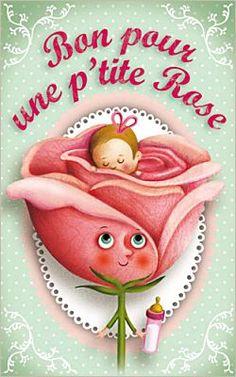 Bon pour une p'tite Rose Carte de bonnes nouvelles - Marie Desbons
