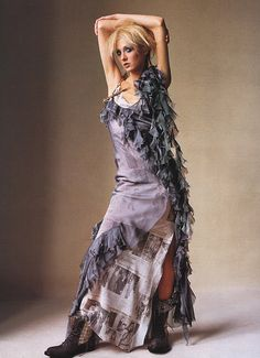 US Vogue April 2000 How to Wear Couture Photographer: Irving Penn Fashion Editor: Phyllis Posnick Hair: Racine Makeup: Carole Lasnier Model: Maggie Rizer